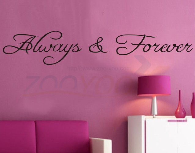 Decorative Wall Decal Quotes : Always forever loving home decor creative quote wall decal