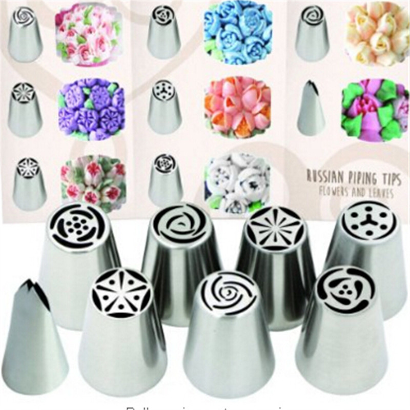 How To Make Cake Decorating Nozzles At Home : 8 Tools Set TOP QUALITY Russian Piping Tips Icing Nozzles ...