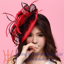 Free Shipping New Women Hair Fascinator Hats Hair Accessory Hair wedding accessories Hairdress Flowers Hair Bows With Hairbands