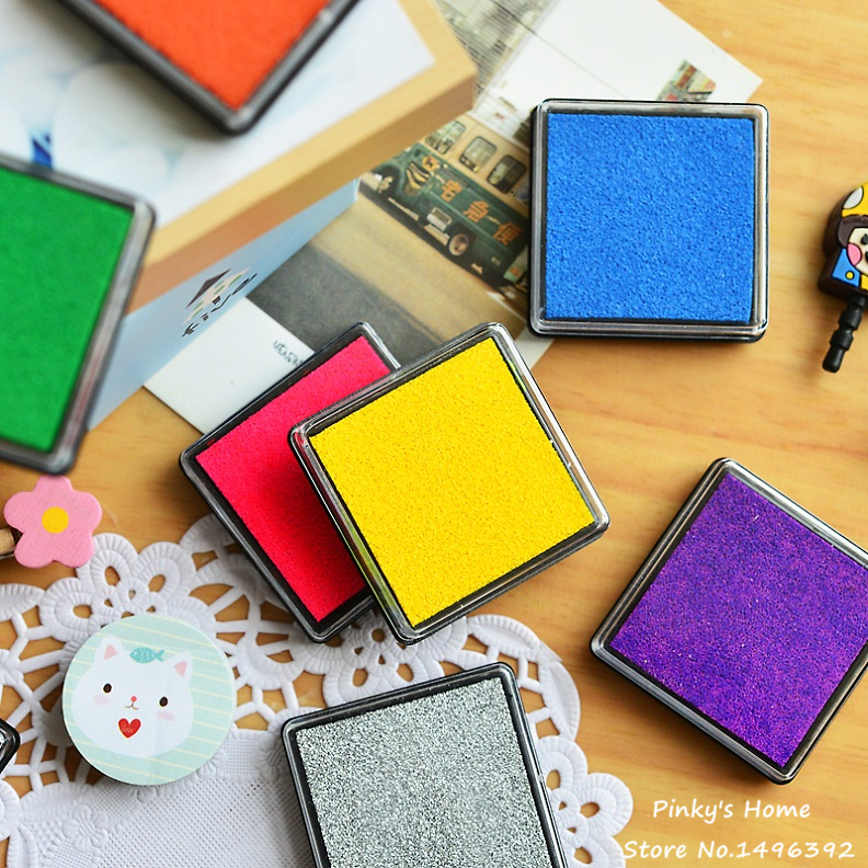 15 Colors Cute Inkpad Craft Oil Based DIY Ink Pads for Rubber Stamps Fabric Scrapbook Wedding