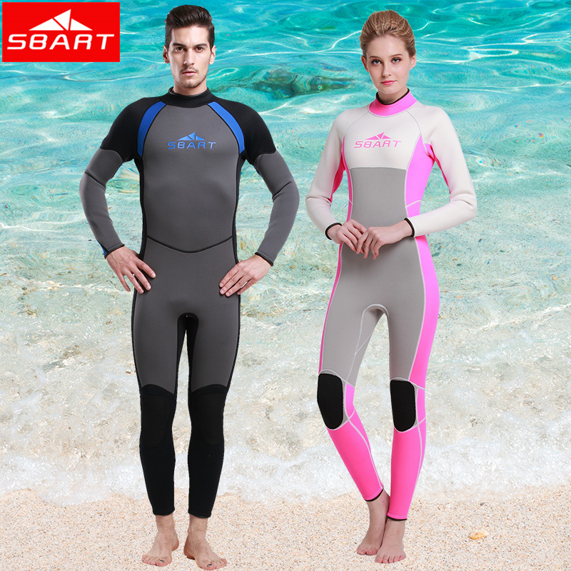 Фотография SBART New Surfing Spearfishing Wetsuits Neopreno Long Sleeve Driving Equipment Scuba Diving Suit Woman Wet Suit Swimwear J1015