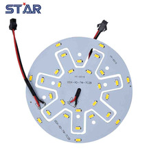 LED Ceiling Lights DIY Aluminum Board 7W SMD 5730 110-240V Light Bulb Ring PCB Emergency Replace LED Panel 2D LED Lamp CFL Tubes(China (Mainland))
