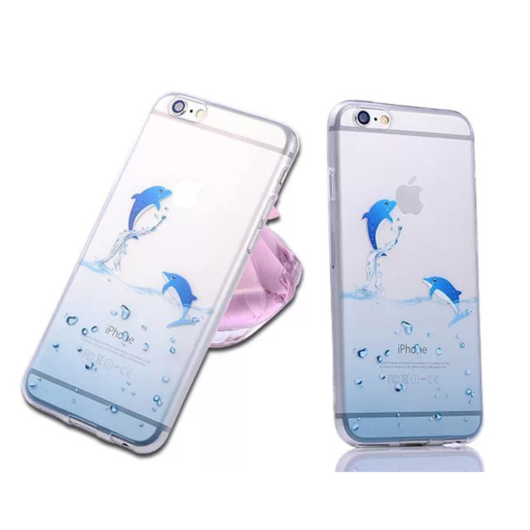wholesale factory price 2015 marine animal phone bagFor iphone 6 plus case ultrathin TPU cover For apple mobile phone back cover(China (Mainland))