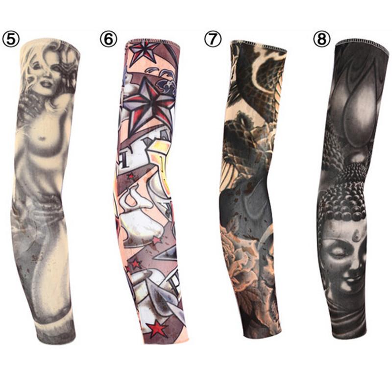 2015 New Summer Style Personality Fake Tattoos Print Stretch Nylon Basketball Arm Sleeve Insulation Manguito Stockings 31356(China (Mainland))