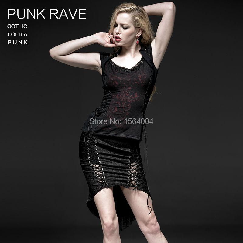 2016 punk rave gothic fashion Harajuk Emo Victorian font b Tartan b font Pirate Vampire shirt