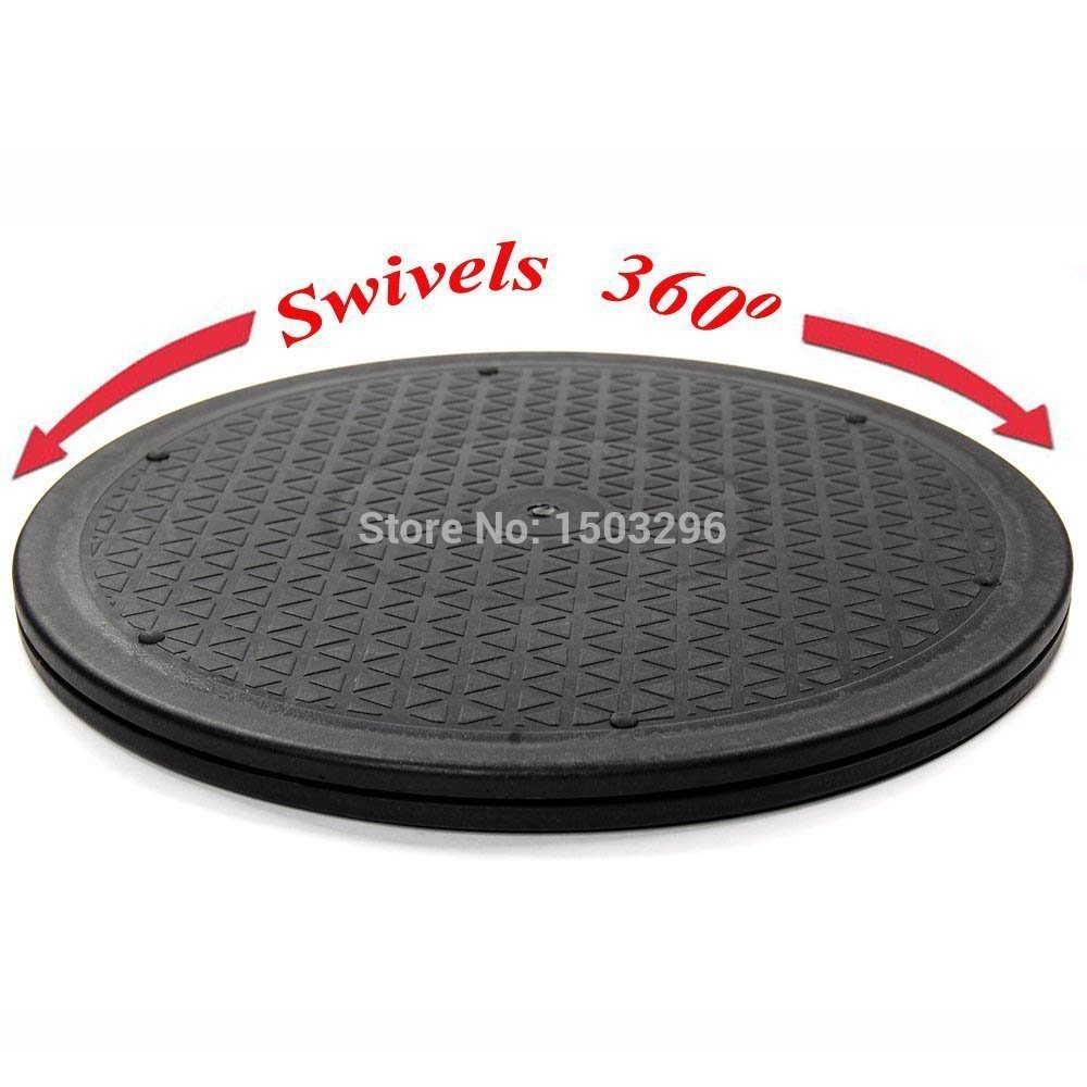 10Inch 25CM Heavy Duty Rotating 360 Degree Swivel Steel Ball Bearings Stand for Monitor/TV/Turntable/Lazy Susan New Black(China (Mainland))