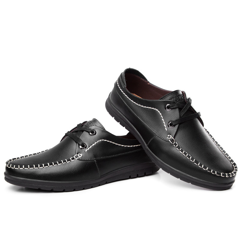 2015 New Menu0026#39;s Casual Peas Shoes For Men Business Shoes Casual Leather Boat For Spring Summer-in ...
