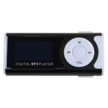 2016 Brand New Mini Clip LCD Screen MP3 Music Player MP3 Player With Flashlight Support TF Card + Earphone(China (Mainland))