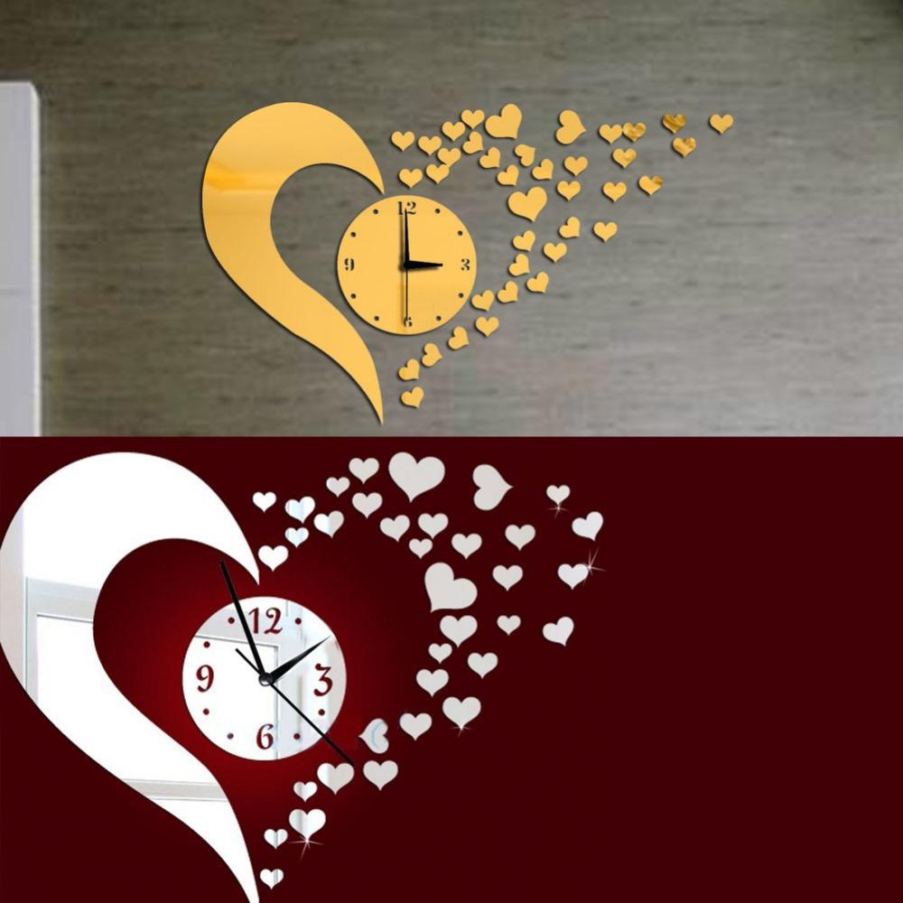Moderne woonkamer spiegel: klokken klok horloge d diy acryl ...