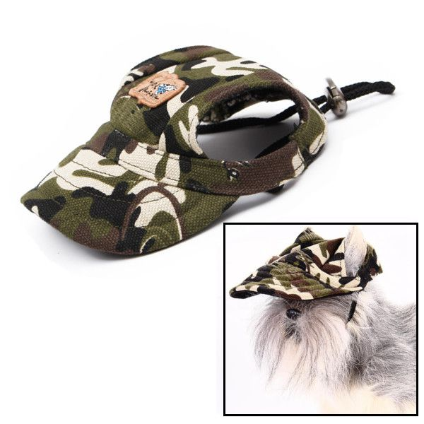 Hot sale Sports Fashionable adjustable Pet Dog Cat Camouflage Baseball Cap Hat With Ear Holes(China (Mainland))