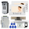 Free Shipping Home Wired 7 Color Video Door Phone Intercom Entry RFID Access Camera 2 Monitor