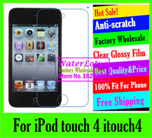 For iPod touch 4 itouch4 LCD film case Matte case Anti-glare mobile protective film phone screen protector de pantalla projector