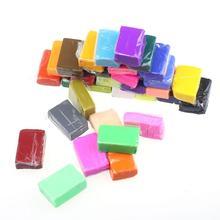32pcs DIY Malleable Fimo Polymer Modelling Soft Clay Blocks Plasticine Hot sale OCT(China (Mainland))