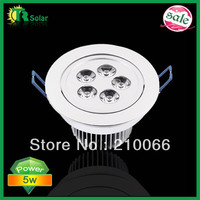 LED Ceiling Light 5W Down lighting led lamp Recessed Warm/Cool White energy saving Free Shipping 6pcs good quality indoor lamp