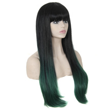 cheap synthetic Hair wigs two-tone Fashion ombre wigs celebrity wig for women big wave female wavy wig Heat Resistant wholesale(China (Mainland))