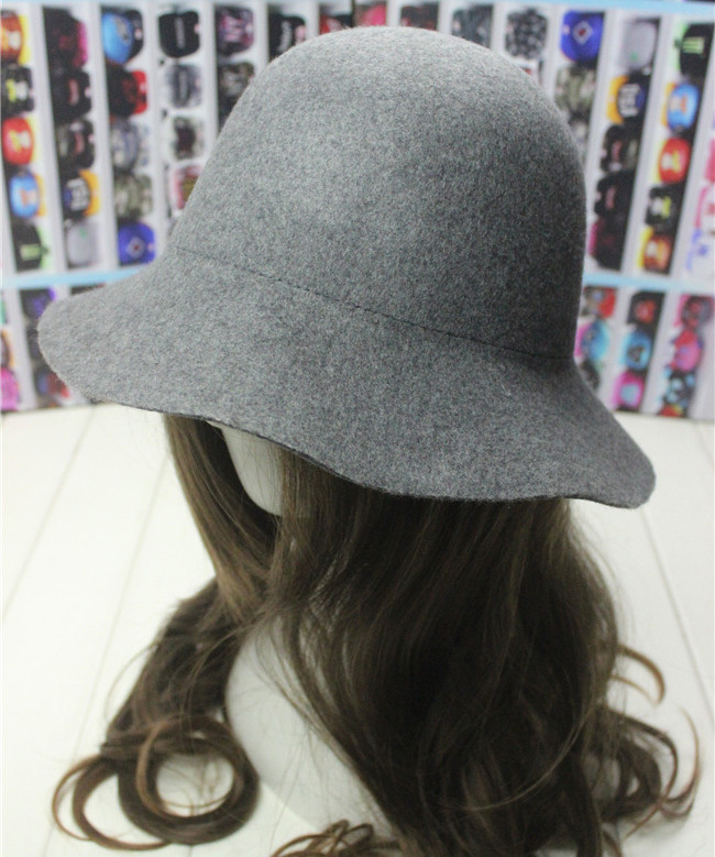 2015 New Fashion Vintage women's 100% Wool bucket hats 11colors solid winter caps wool berets AWH003 - Sweet Love store