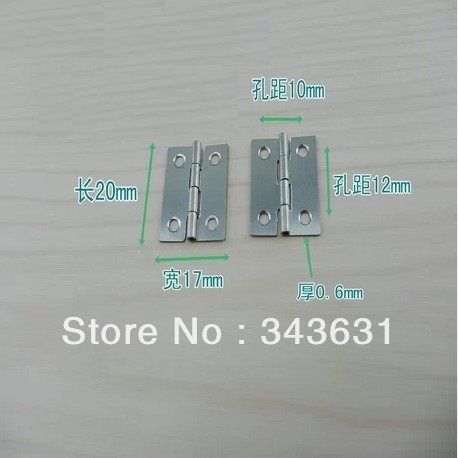 100pcs High Quality Stainless Steel 25*17*0.6 mm 4 Hole Door Hinges<br><br>Aliexpress