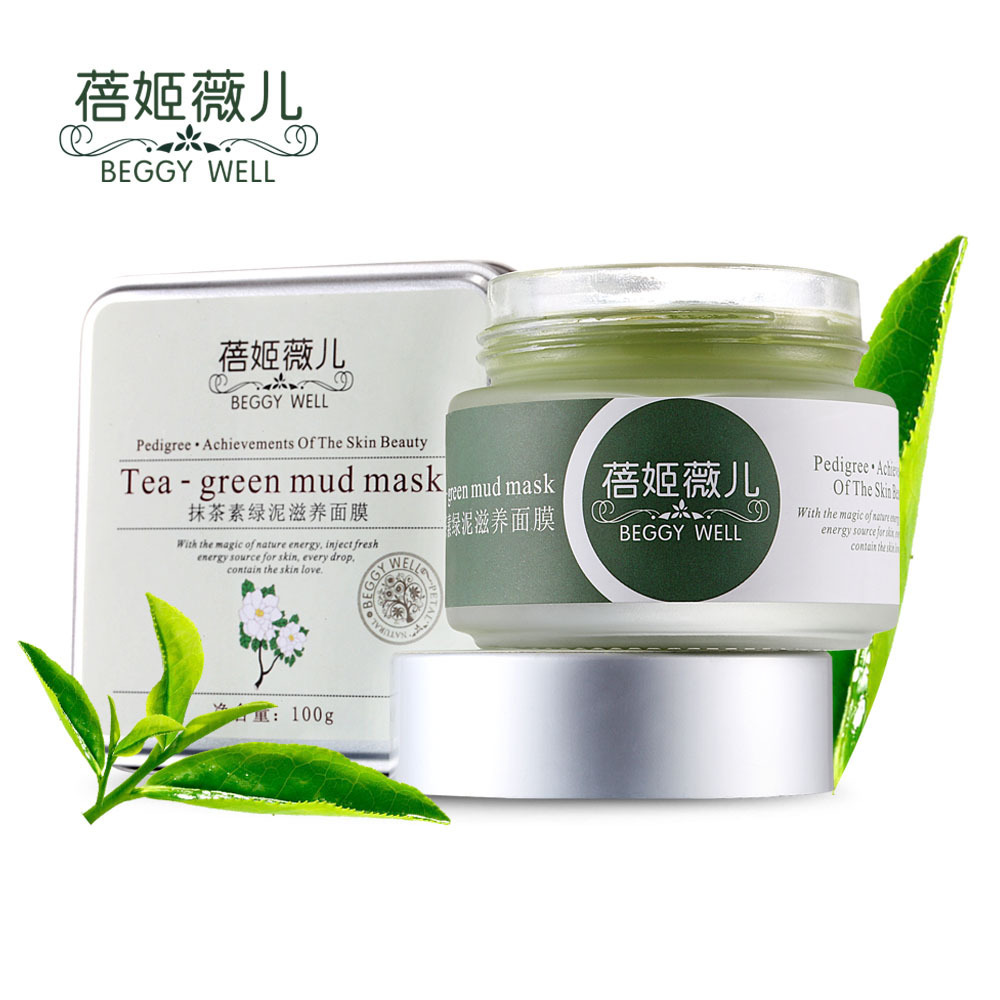 New Arrival GEGGY WELL Matcha Green Mud Nourishing Facial Mask Blackhead Remover Acne Treatment Mask To Face Face Care Black Hea<br><br>Aliexpress