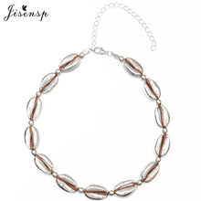 Jisensp Boho Style Summer Beach Seashell Beaded Necklace for Women Handmade Adjustable Ethic Shell Chokers Necklace bijoux Gift(China)