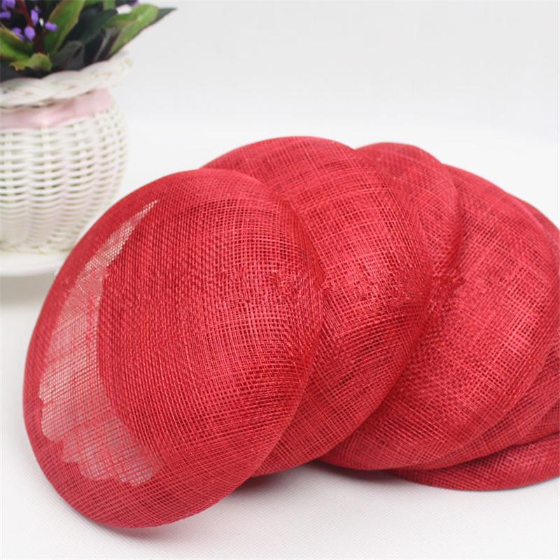 3pc/lot 15cm Round Sinamay Fascinator Base Wedding Hats And Fascinators DIY Hair Accessories 10 Color DY0002(China (Mainland))
