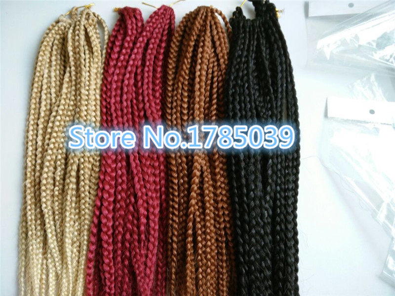 3Pieces/lot synthetic twist braids 20 roots/piece 3s box braids afro twist crochet hair extensions bohemia style<br><br>Aliexpress