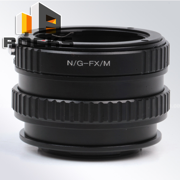 Pixco Adjustable Focusing Macro Infinity Lens Mount Adapter Suit Nikon F Mount G Lens Fuji Fujifilm X Mount Camera