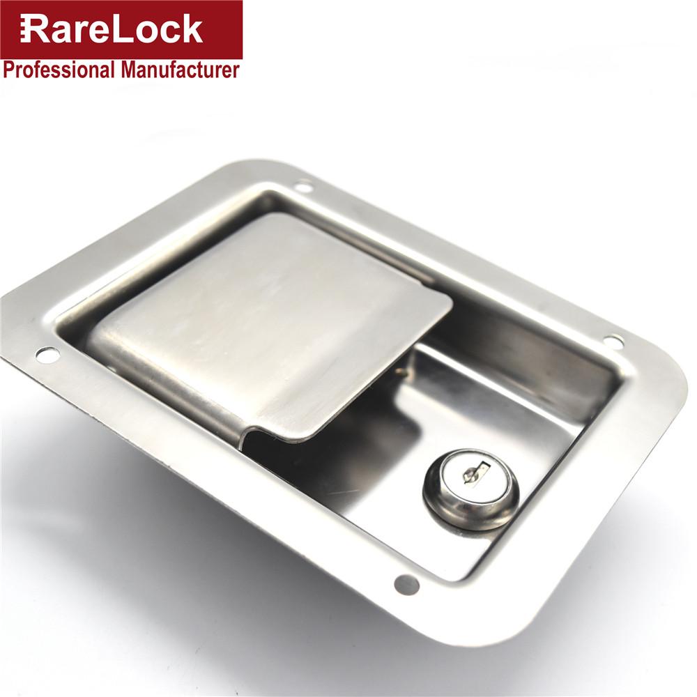 Rarelock Bus Truck Lock Stainless Steel Pickup Accessories Bus,Truck Door Handle Lock 140mm*108mm Cerradura(China (Mainland))