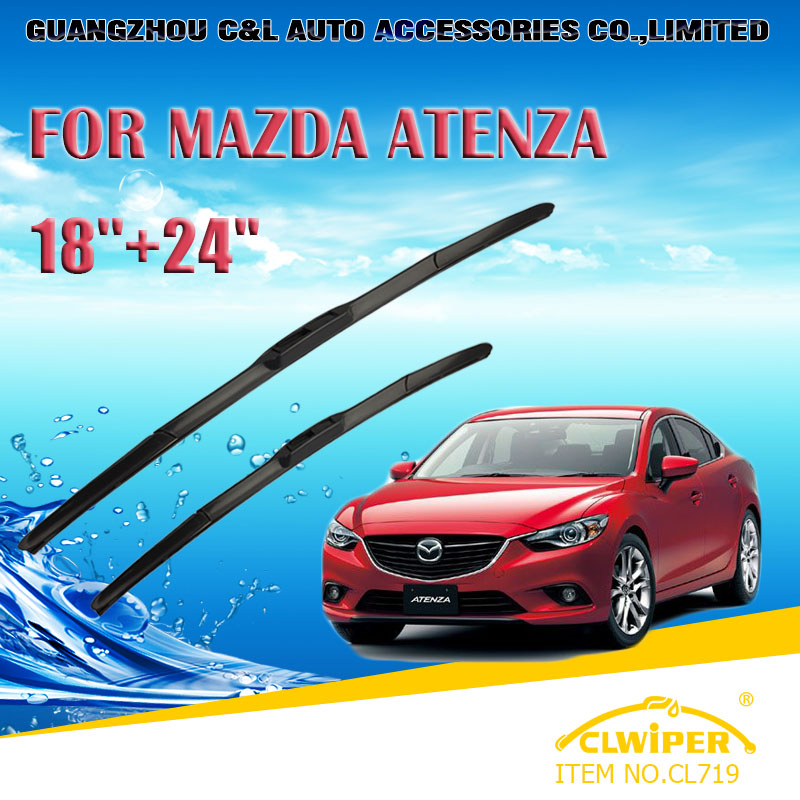 "For MAZDA ATENZA ,Exclusive Car Windshield Windscreen Wiper Blade 24""+18"" Fast shipping Cars styling accessories(China (Mainland))"