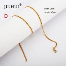 Jin Hui Novo Africano Dubai Colares Comprimento 45 centímetros Das Mulheres Dos Homens de moda da cor do Ouro Jóias amigo presente de Aniversário para as meninas presentes(China)