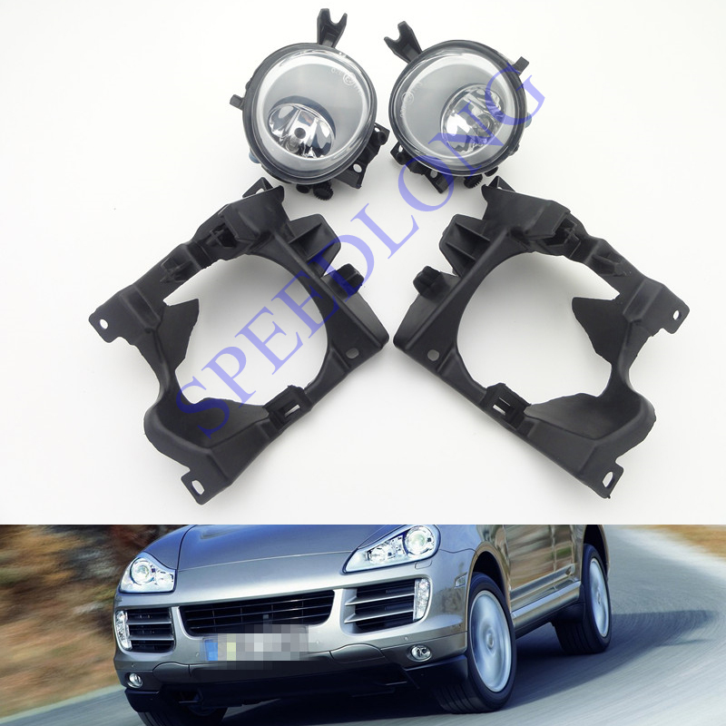 1 Set Auto Car Front Bumper Fog Lights with bulbs and Lamp covers cap kits for Porsche Cayenne 2008-2010(China (Mainland))