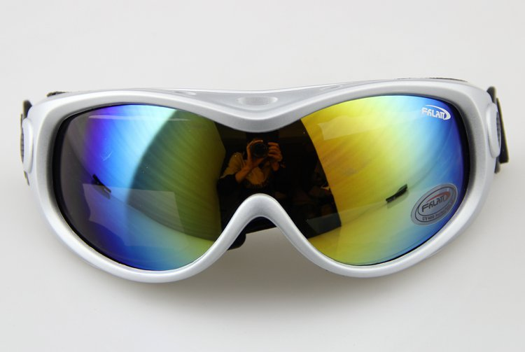 Free Shipping Silver FRAME COLOURED LENS ADULT SNOW SNOWBOARD SKI GOGGLES<br><br>Aliexpress