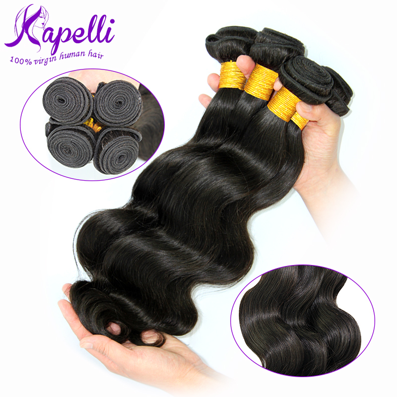 Unprocessed Indian Virgin Hair Soft Cheap Remy Human Hair Extension Weft 8-26 Inches Indian Body Wave 3pcs/lot Natural Color(China (Mainland))