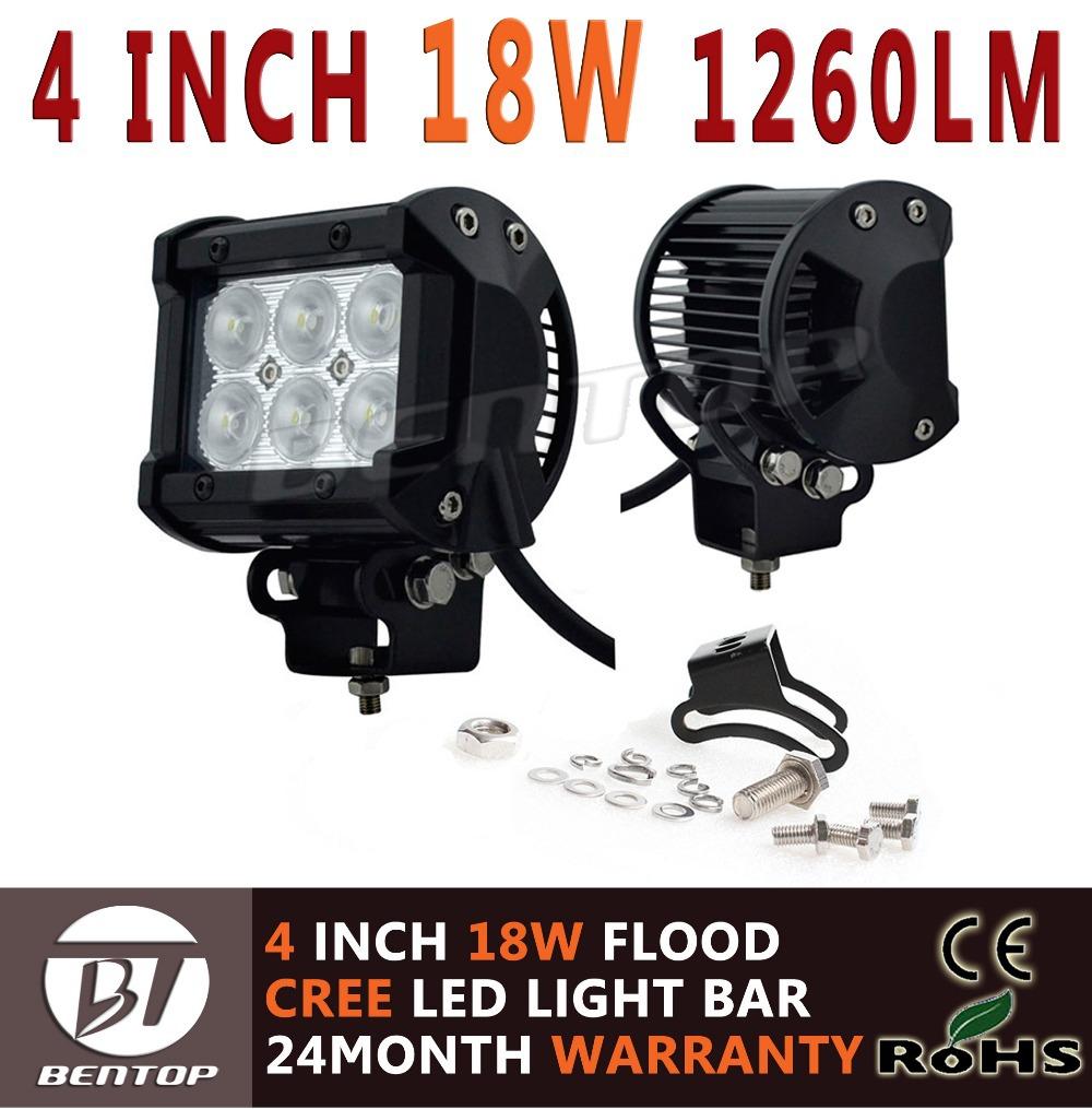 Система освещения BENTOP 18W CREE 4 1260LM OFFROAD 10W/12 /27W/36W/40W система освещения brand new 120w osram offroad 12 atv 4wd utv