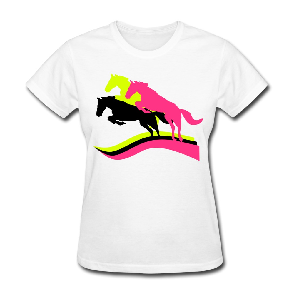 Low Price O Neck T Shirt Womans Horses Horse Wilde Horses