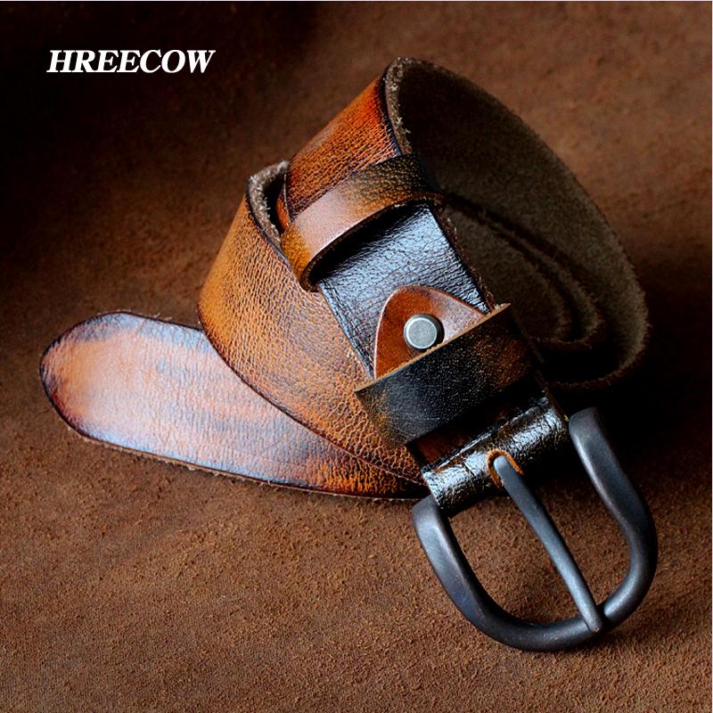 New Luxury High Designer Belts old Ancients Black Coffee genuine leather Belts men Waist belt fast ship