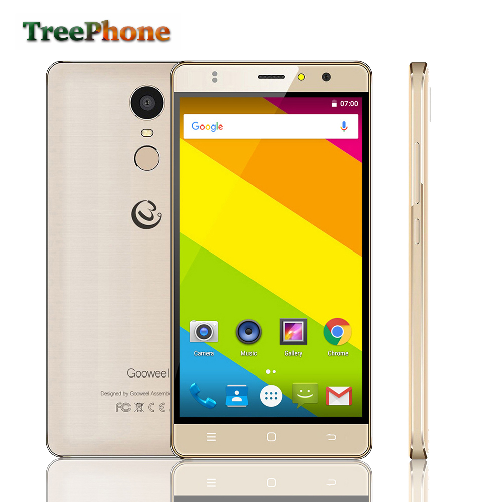 Original Gooweel M17 4G mobile phone Fingerprint ID MTK6737 Quad core 64bit 5.5inch IPS Android 6.0 smartphone 16GB 8MP GPS Cell(China (Mainland))