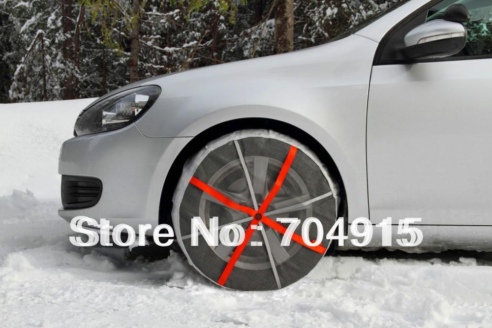 Autosock текстильной цепи снег носок шина для легковых автомобилей в зимний период бесплатная доставка курьерским KB77