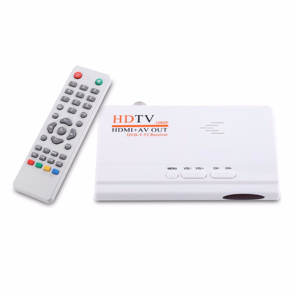 1080P HD HDMI DVB-T2 TV Box Tuner digital Terrestrial Receiver Converter with Remote Control Composite Video Output for TV(China (Mainland))
