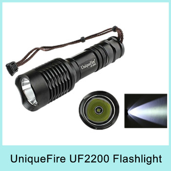 UniqueFire UF-2200 Cree XM-L U2 1200 Lumen 5-Mode 18650/26650 LED Flashlight Shock Resistant Waterproof Drop Shipping