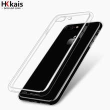 HKkais For Apple iPhone 6 7 Case Slim Crystal Clear TPU Silicone Protective coque for iPhone 7 4 5S 5 SE 6 6s plus cover cases(China (Mainland))
