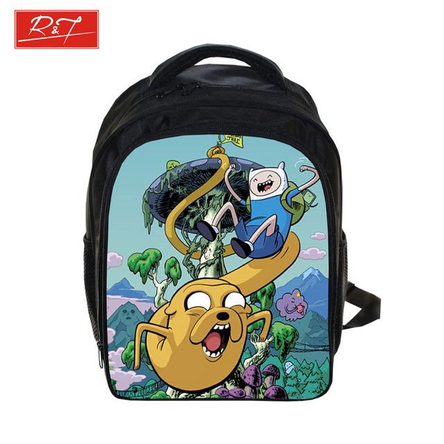 Аниме приключения время рюкзак для мальчиков школьные сумки дети ежедневно рюкзаки ...