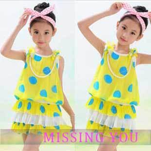 Wholesales 4pcs/lot, Free Shipping Children Dresses New Fashion Girls Tank Dress Kids tutu Dress Polka Dots GD012<br><br>Aliexpress