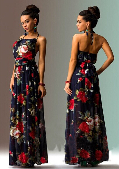 Женское платье Women summer sexy maxi  dress 2015 vestidos o s/xxl LYA1498 женское платье bohemian i women summer beach dress 2015 o vestidos w0014