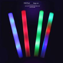 20pcs/Lot Led Foam Stick Multicolor Changing Flash Batons 48cm RGB Glow Stick Light Up Tube Party Bar KTV Concert Decoration(China (Mainland))