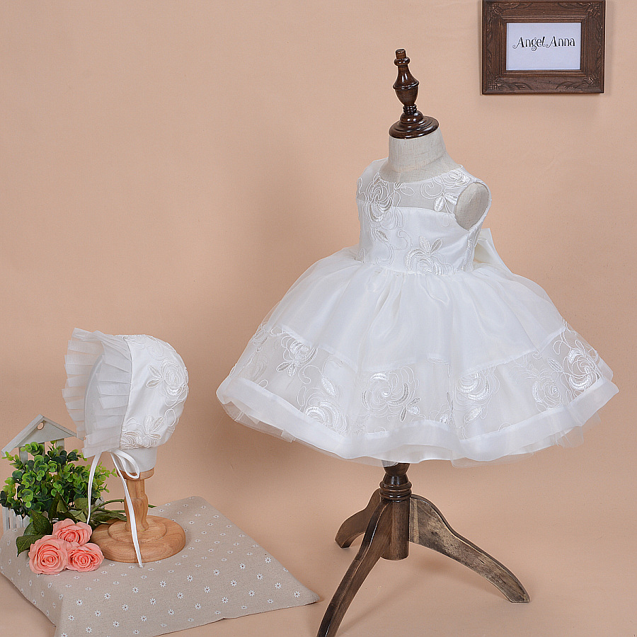 2016 Summer Baby Girls 1 year Birthday Party Dresses Toddler Princess Dress Baby Girls Christening Dresses Newborn Baptism Dress(China (Mainland))