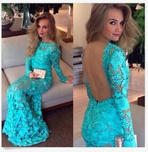 Vestidos Longos De Guipir Clothing Elegant Backless Party Floral Soluble Lace Dress Vestido De Renda Roupas