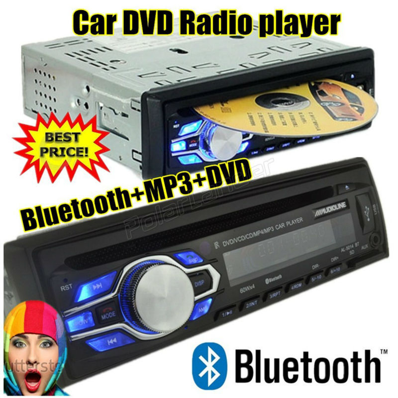 2015 new car DVD VCD CD MP3 radio player Support BLUETOOTH answer / freehand phone 12V 1 din audio stereo mp3 bluetooth AUX IN(China (Mainland))