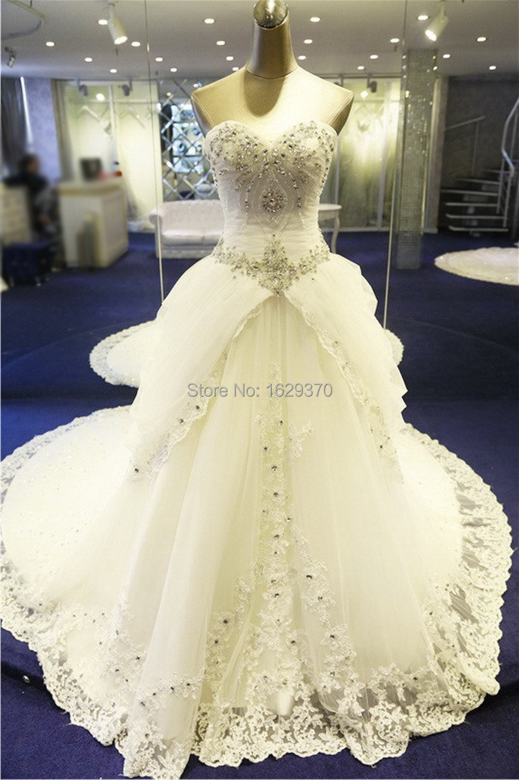 Royal Wedding Sticker Dress Up : Real picture a line wedding dresses beading