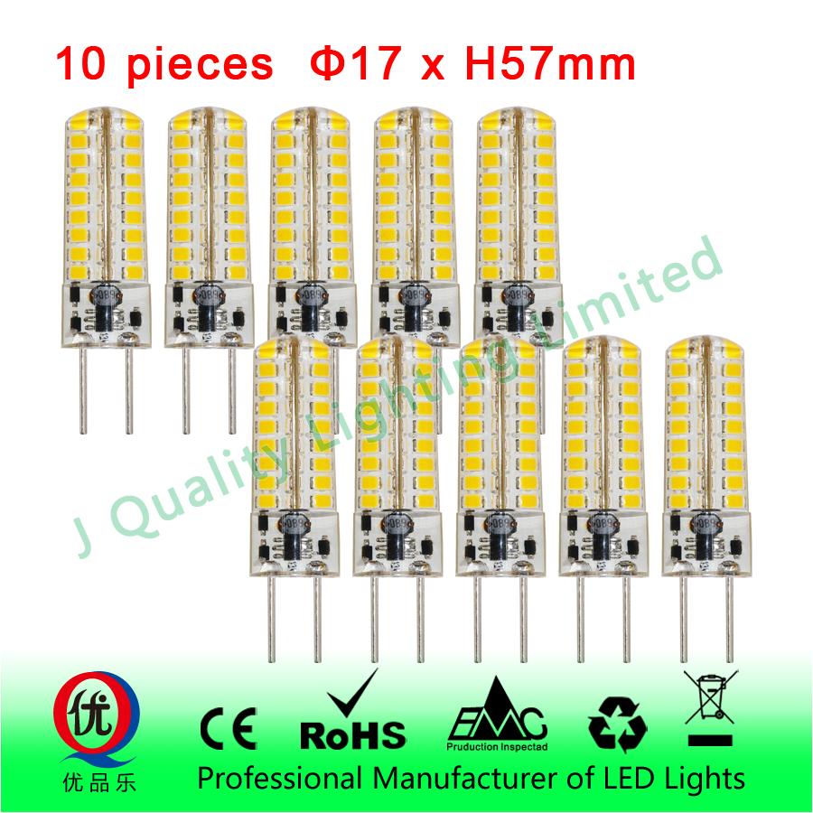 10 pieces/lot G4 LED 12V DC/AC 10W Led Lamp LED Bulb 2835 SMD 72 LED lamp 360 Beam Angle LED spot light warranty(China (Mainland))