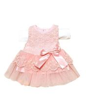 Summer Baby Girls Sleeveless Lace Dress Crochet Princess vestidos Kids With Bow Belt Party Dresses